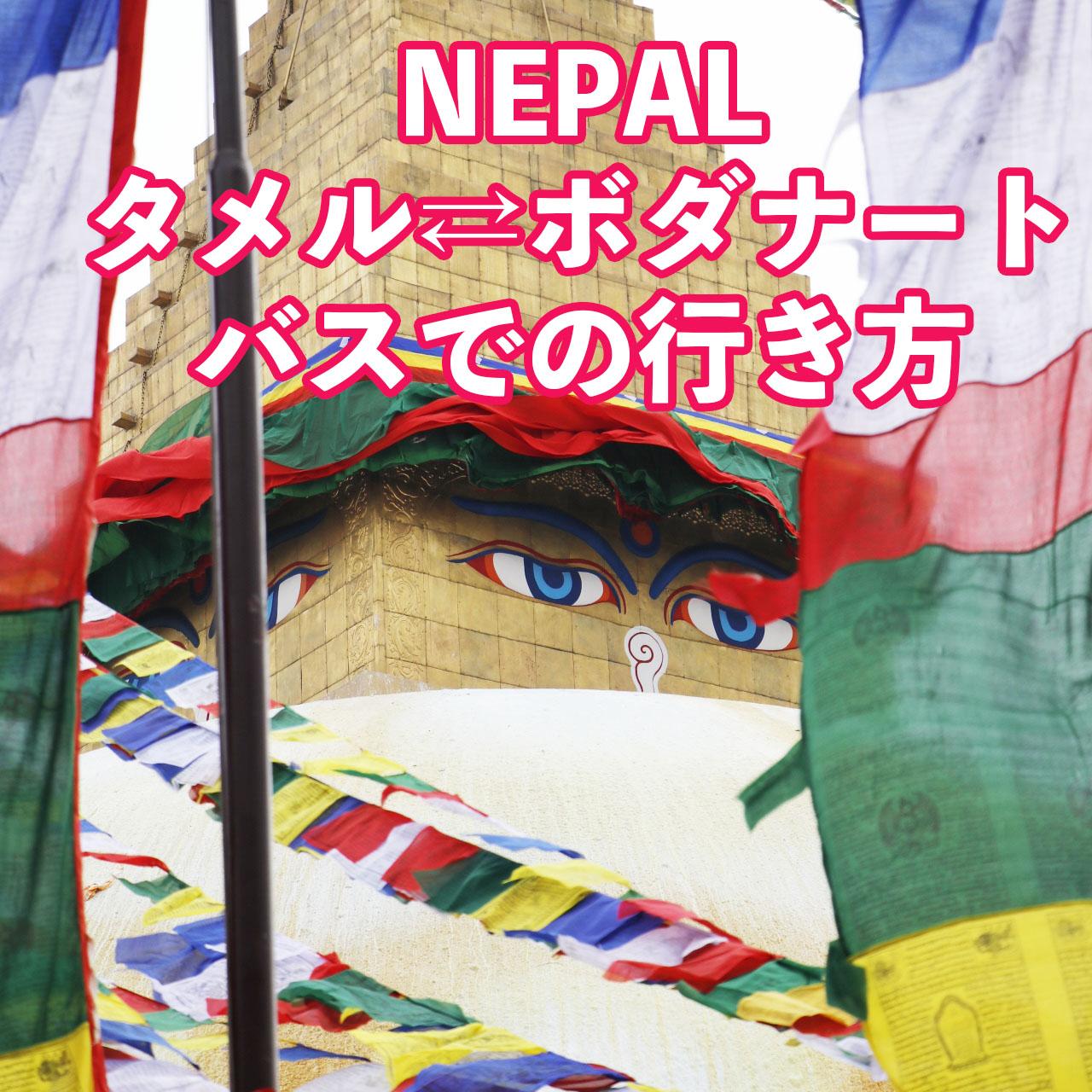 【ネパール旅】カトマンズのタメルからボダナートへのローカルバスでの行き方